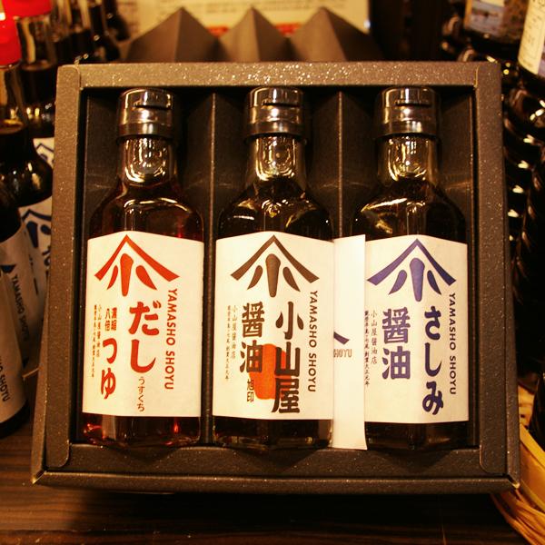 刺身醤油【スーベニアプロジェクト】Made in 石川:「小山屋醤油店の七尾セット」